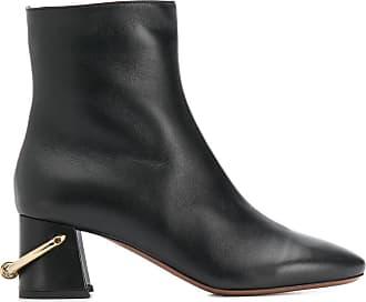 L'autre Chose Ankle boot com salto 60mm e detalhe de espora - Preto