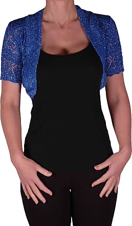 Eyecatch EyeCatchKnitwear - Erin Lurex One Size Bolero Knit Shrug Royal Blue