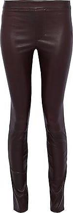 Helmut Lang Helmut Lang Woman Stretch-leather Leggings Merlot Size 10