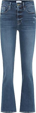 Frame Denim Le Crop Mini mid-rise bootcut jeans