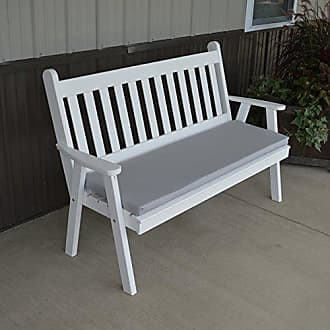 A & L Furniture A & L Furniture Yellow Pine Traditional English Garden Bench, 5, Gray Stain