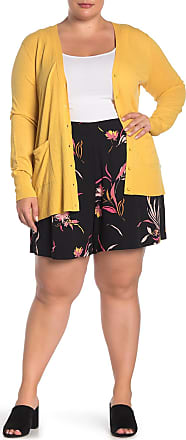 14th & Union Drapey Patterned Shorts (Plus Size)
