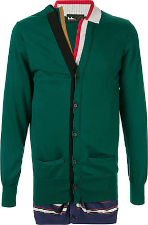 Kolor button-up double cardigan - Green