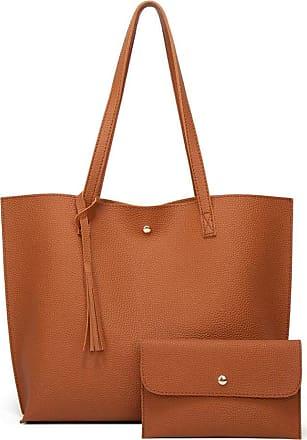 Generic Women Soft Leather Bag Large Capacity Tote Bag Tassel Shoulder Bags Fashion Handbag Composite Women Bags Travel Totes