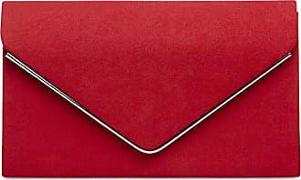 3736c81eae1803 CASPAR Fashion CASPAR TA356 Damen elegante Textil Velours Envelope Clutch  Tasche/Abendtasche mit langer Kette