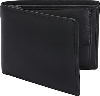 Dents Mens RFID Blocking Protection Smooth Leather Trifold Wallet - Black