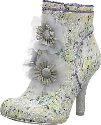 Irregular Choice Womens Queen Velvet Wedding Shoes, (White Dark), 6.5 (40 EU)