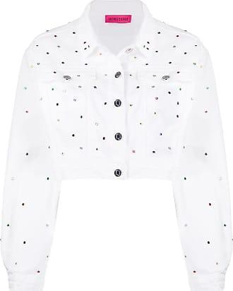 Ireneisgood Jaqueta jeans com aplicações - Branco