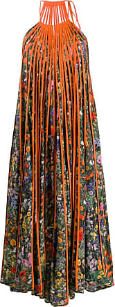 Stella McCartney floral pleated long dress - Green