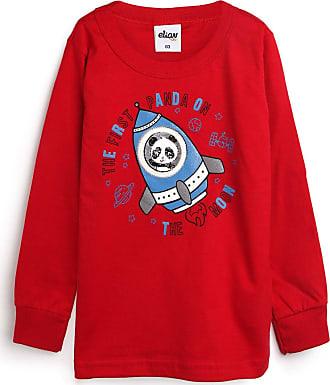 Elian Camiseta Elian Menino Panda Vermelha