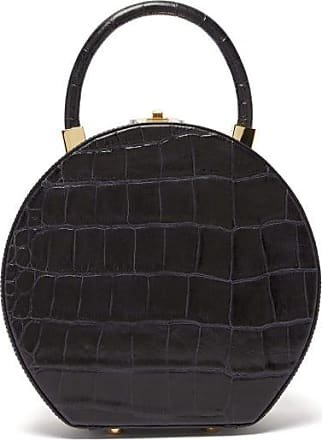 Sparrows Weave The Round Wicker And Leather Bag - Womens - Navy