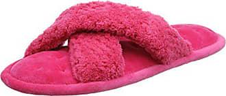 C Femme 40 Isotoner Pantoufles Ladies Slippers Hot Strap Pink HPI EU Popcorn Rose YOEXrO