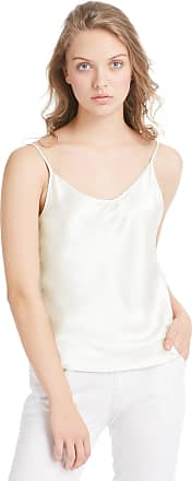 LilySilk Womens Silk Camisole 100 Pure Mulberry Silk Tank Tops & Ladies Cami Top with Soft Satin Ivory Size XL