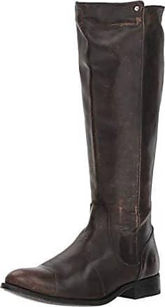 Frye Womens Melissa Stud Back Zip Knee High Boot, Black Full Grain Brush Off Off, 6.5 M US