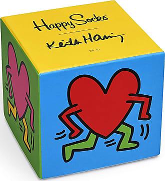 Happy Socks Mens Keith Haring Sock Box Set, 7/12 UK (pack of 3)