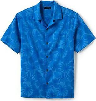 Lands End Hawaiihemd für Herren, Classic Fit - Blau - 44-46 von Lands End