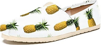 Tizorax Pineapples Mens Slip on Loafers Shoes Casual Canvas Flat Boat Shoe