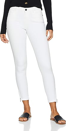 Noisy May Womens Nmkimmy Nr Ankle Zip Jeans Az063w Noos Slim, White (Bright White Bright White), W27/L32 (Size: 27)