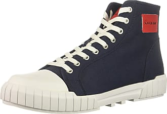 Calvin Klein Mens Biagio Nylon Sneaker, Navy, 10 UK