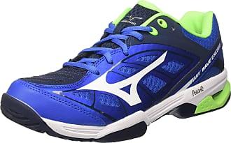 new arrival 65fa3 457e1 Mizuno Mens Wave Exceed AC Tennis Shoes Multicolour (StrongBlue White DressBlues  01)