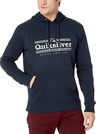 Quiksilver Mens GET Buzzy Screen Fleece Pullover Sweater, Sky Captain, Medium