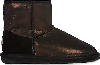 7860263858 Emu Australia Womens Stinger Metallic Mini Winter Real Sheepskin Boots Size  UK 6 Black
