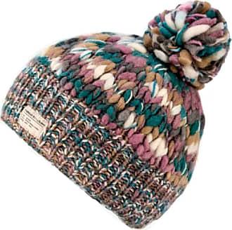 KuSan 100% Wool Bobble Beanie Hat (OneSize) PK1631 (Teal/Mauve)