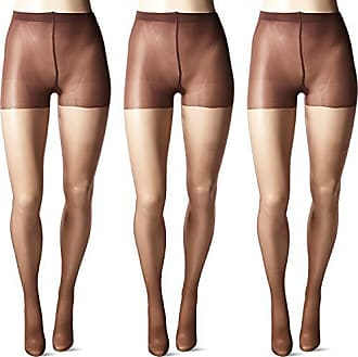 80fdc81f51b26a Hue Womens So Silky Sheer Control Top Pantyhose (Pack of 3), espresso bean