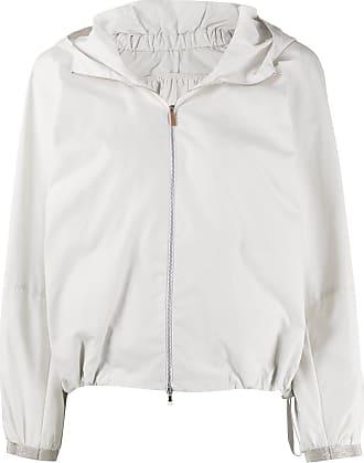 Fabiana Filippi zipped hooded jacket - NEUTRALS