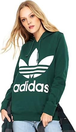 5dc350344 adidas Originals Moletom Fechado adidas Originals Trefoil Hoodie Verde