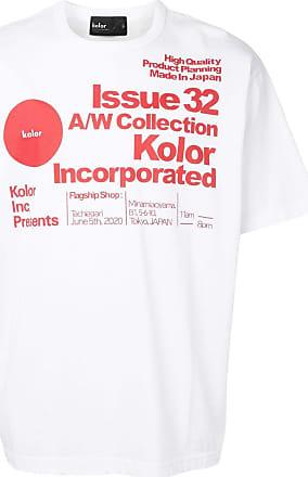 Kolor logo text print round neck T-shirt - White