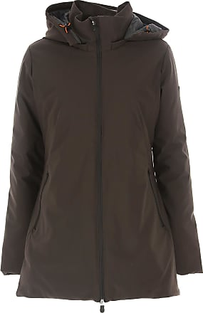 Save The Duck Womens Coat On Sale in Outlet, Brown, Nylon, 2017, 4 (XL - 46/48)