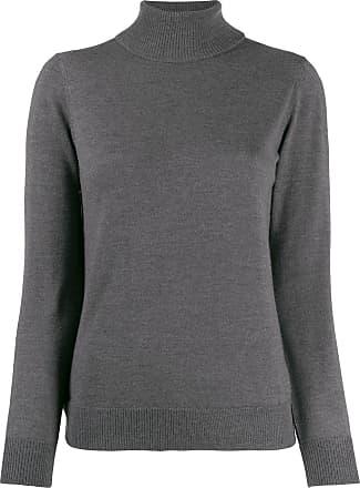 A.P.C. Suéter slim com gola alta - Cinza