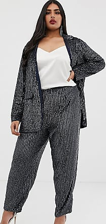 Asos Curve ASOS EDITION Curve embellished trouser-Navy