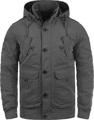 Solid Davio Mens Winter Jacket Outdoor Jacket with Hood, Size:L, Colour:Dark Grey (2890)