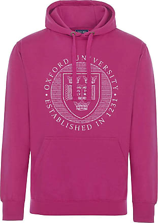 Oxford University Official Distressed Crest Hoodie - Heliconia - Medium