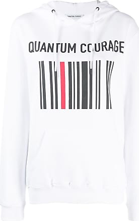 Quantum Courage Moletom com estampa de logo - Branco