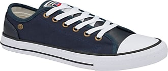 Dunlop Trainers Ladies Canvas Lace Plimsoll Shoes Sneakers with Memory Foam UK Sizes 3-8 (Deane Navy, Numeric_4)