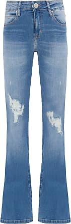 Market 33 Calça Jeans Flare Destroyed - Azul