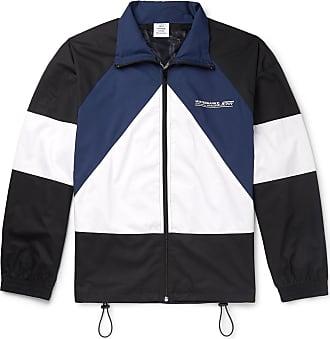 VETEMENTS Printed Colour-block Cotton Jacket - Black
