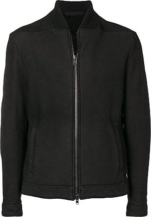 Salvatore Santoro leather bomber jacket - Preto
