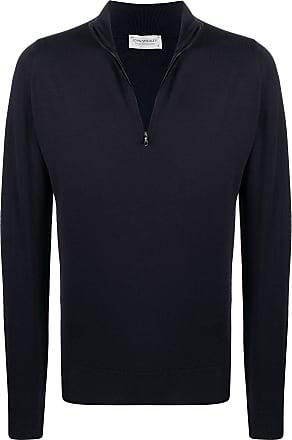 John Smedley Suéter de tricô com zíper - Azul