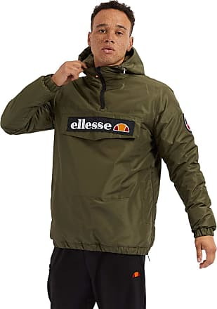 Ellesse Heritage Mens Monterini Retro Quarter Zip Jacket Khaki XXL