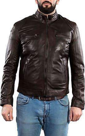 Leather Trend Italy Avatar - Giacca Uomo in Vera Pelle colore Testa di Moro Invecchiato