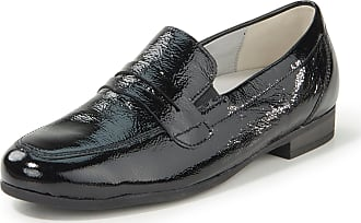 Waldläufer Loafers Ulla in creased cowhide patent leather Waldläufer black
