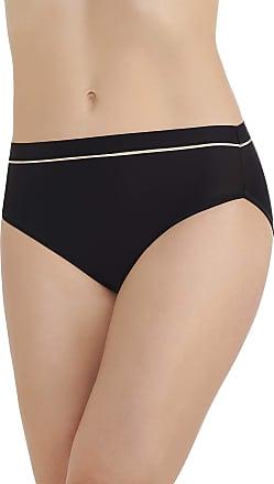 Vanity Fair Womens Light and Luxurious Hi Cut Panty 13195 Briefs, Mid Black, Medium