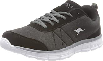 Kangaroos Womens KR-Run REF Low-Top Sneakers, Black (Jet Black/Steel Grey 5003), 7 7.5 UK