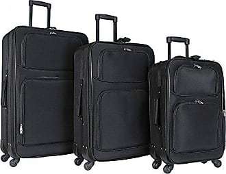 World Traveler 3-Piece Rolling Expandable Spinner-Black