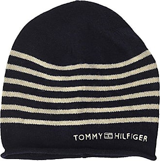 9fcff691d4c98 Tommy Hilfiger Tommy Stripe Beanie, Bonnet Femme, Bleu Navy, Unique (Taille  Fabricant