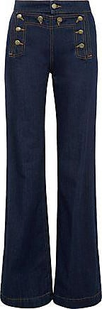 Red Valentino Redvalentino Woman High-rise Flared Jeans Dark Denim Size 40